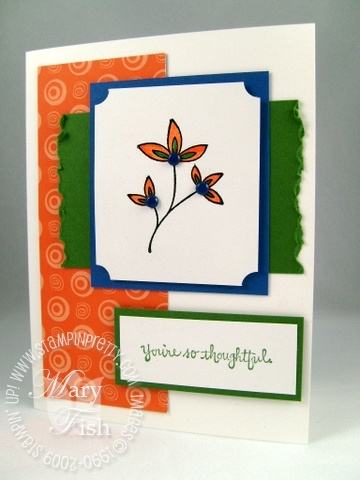 Stampin up absolutely fabulous sweet stems