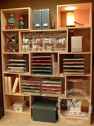 Stampin up stamping storage and organization shelves 2