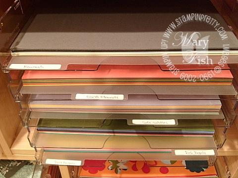 Stampin up stamping storage and organization 5