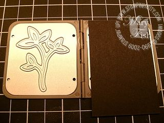 Stampin up sweetest stem embosslit 2