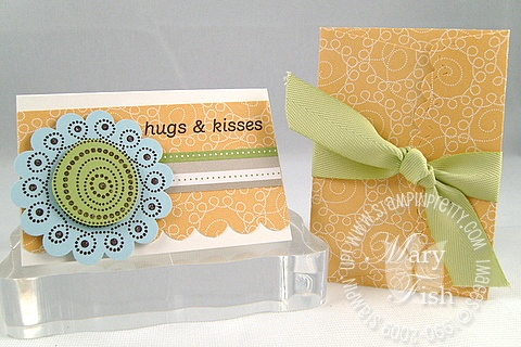 Stampin up polka dot punches scallop envelope