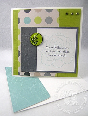 Stampin up fifth avenue floral
