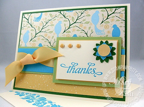 Stampin up flock together thank you
