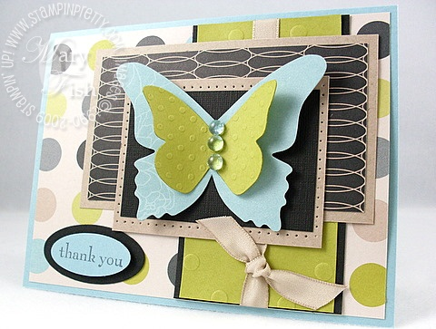 Stampin up beautiful butterflies bigz die