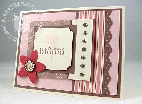 Stampin up bellas bloom mojo monday 75
