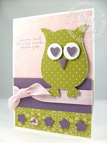 Stampin up simply said chipboard owl
