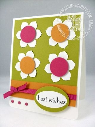 Stampin up big shot sizzlits birds and blooms