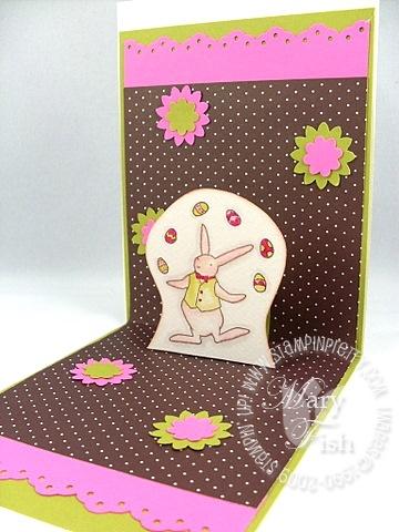 Stampin up eggcellent easter card interior