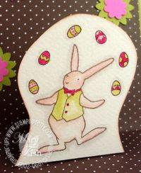 Stampin up eggcellent easter bunny