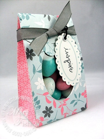 Stampin up bag with scallops bigz xl die