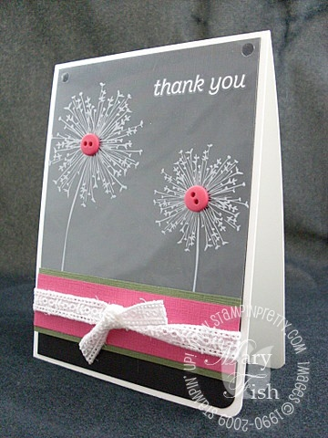 Stampin up printed window sheets