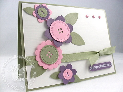 Stampin up sizzlits birds and blooms
