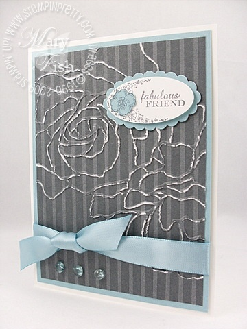 Stampin up manhattan flower
