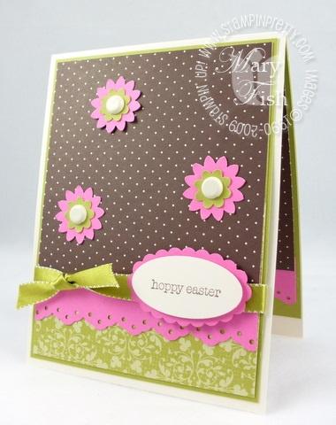Stampin up eggcellent easter card front