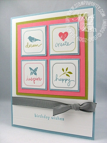 Stampin up summer love rub-ons