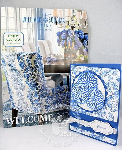 Stampin up bella toile williams sonoma