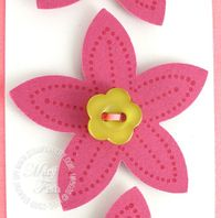 Stampin up polka dot punches five petal flower