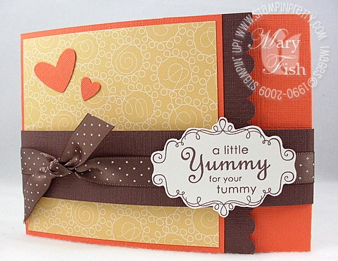 Stampin up yummy recipe card