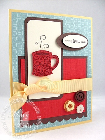 Stampin up font of you coffee mojo 79
