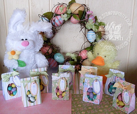 Stampin up scallop bag easter