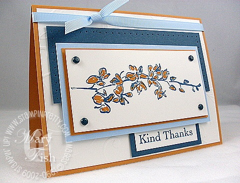 Stampin up echoes of kindness OCCC