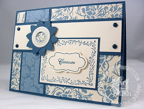 Stampin up bella blue matchbox bigz xl die