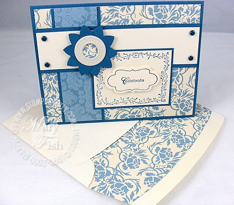 Stampin up bella blue designer envelope