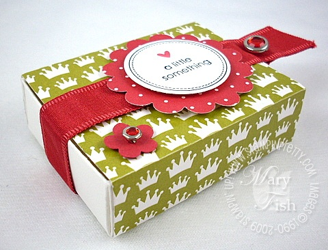 Stampin up rockabilly matchbox