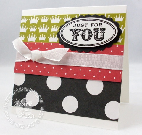 Stampin up rockabilly card