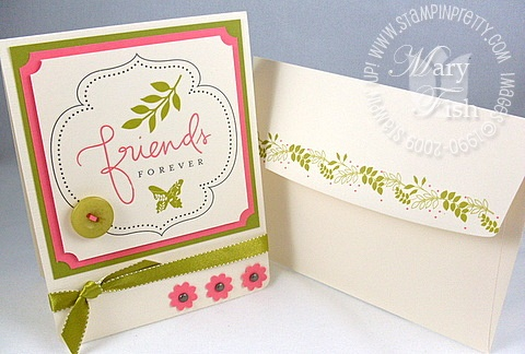 Stampin up summer love rub-ons envelope