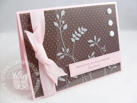Stampin up printed window sheets stems