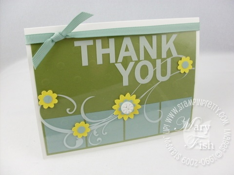 Stampin up printed window sheets thank you