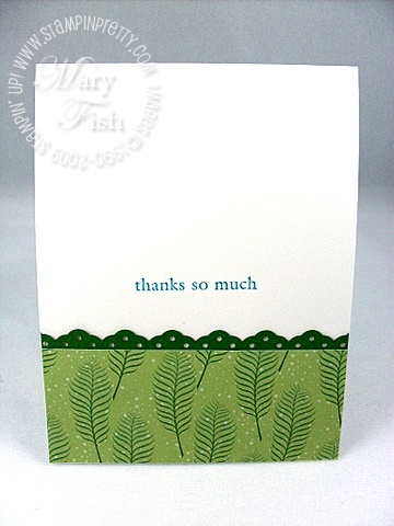 Stampin up three little words thank you card