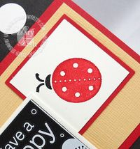 Stampin up darling dots ladybug