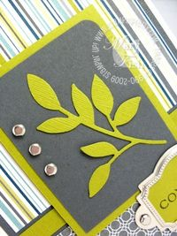 Stampin up little leaf sizzlits mojo monday 2