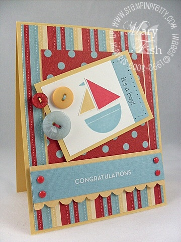 Stampin up nursery necessities baby card