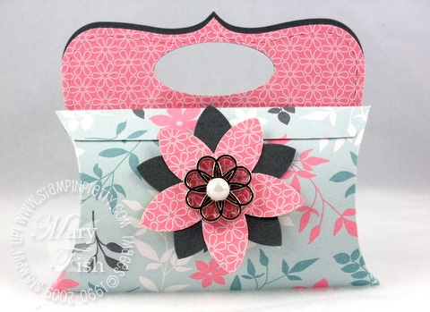 Stampin up bigz pillow die purse