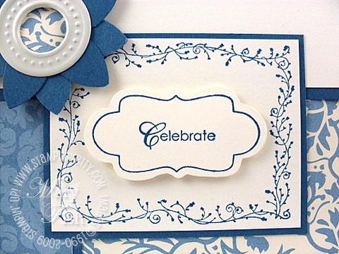 Stampin up bella blue matchbox messages