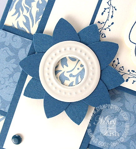 Stampin pretty bella blue flower