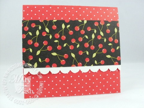 Stampin up rockabilly envelope