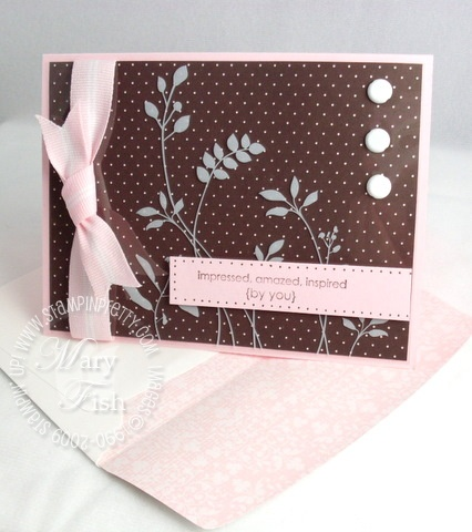 Stampin up printed window sheets envelope