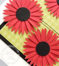 Stampin up rockabilly daisies bigz die