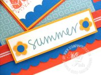 Stampin up just beachy summer love