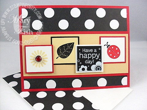 Stampin up darling dots rockabilly envelope