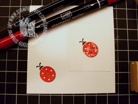 Stampin up darling dots before and after