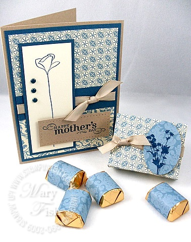 Stampin up bella bleu matchbox