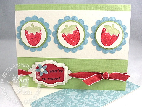Stampin up tart and tangy strawberry