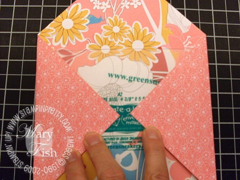 Stampin up envelope template 6