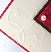 Stampin up very versatile wedding card
