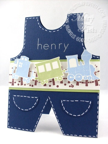 Stampin up choo choo overalls